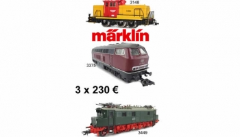 Pack 3x230€ MARKLIN